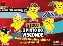 Bloco 'O Pinto do Visconde' erguerá a bandeira da democracia no carnaval 2020